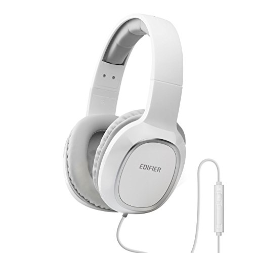 Edifier M815 Over-the-ear Headphones with Mic and Volume Control - White
