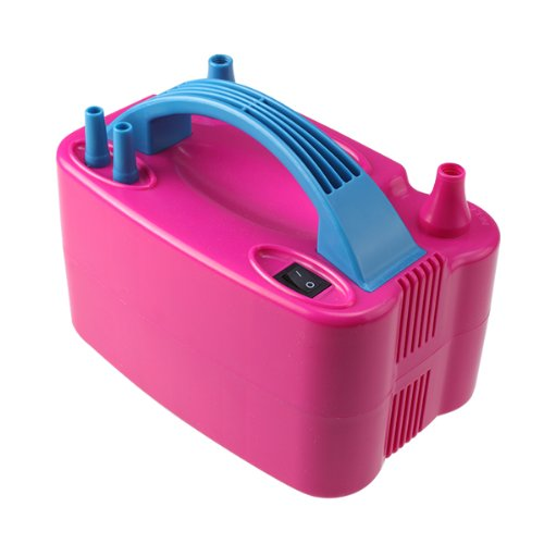 Agptek Household 110V 600W Pink 2 Nozzle Portable Electrical Balloon Inflator Pump For Festival Party Decoration