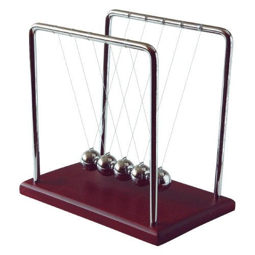 Newton'S Cradle - 7 Inch, Brown Wood Base front-527258