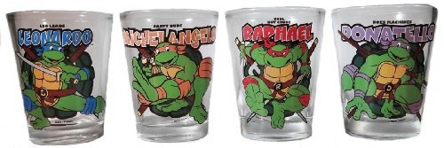 TEENAGE MUTANT NINJA TURTLES TMNT Personalities 4 Piece 1.5oz BOXED SHOT GLASS SET tmnt 12 90545