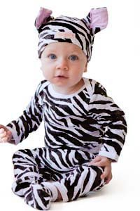 Animal Print 4pc Baby Costume Outfit