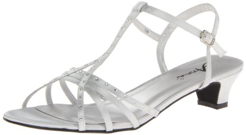 Annie Shoes Women'S Evana Dress Sandal,Silver Satin,12 M Us front-1008389