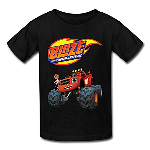 YWT Blaze And The Monster Machines Kid's T-shirts Graphic Size M Black (Pearls Before Swine Merchandise compare prices)