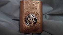 5 Lb. Coin Infused Satin Finish Enduring Freedom Great Seal of U.S.A. style .999 Fine Copper Bullion Art Bar Ingot Free Shipping