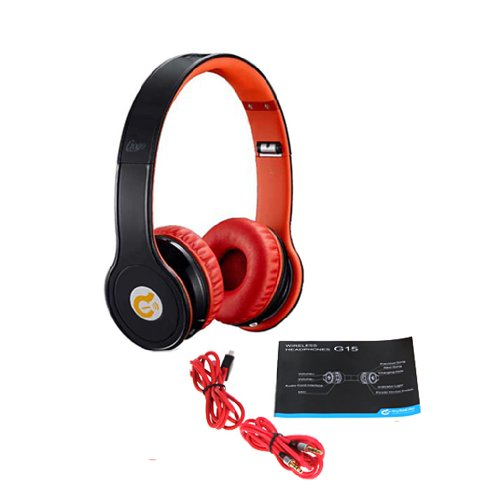 Syllable G15 Foldable Wireless Bluetooth V2.1+Edr Headphone Over Ear Noise-Cancellation Stereo Headphone With 3.5Mm Audio Cable And Lithium Battery: 300 Mah, Working Time 8 Hours, Long Standby Time Of 70 Hours For Iphone 4 4S 5 5C 5S Samsung Galaxy S4 S5
