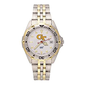 Ladies Georgia Tech All-Star Stainless Steel Band Watch by Jewelry Adviser Watches