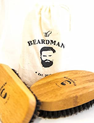 Best Cheap Deal for The Beardman Beard & Hair Brush for Men, Bamboo & Beachwood with 100% Soft Boar Bristles to Comb Beards and Mustache Complete with a Muslin Style Cotton Gift Bag - Great to Use with Facial Hair Beard Oil, Balm and Conditioners, Use wit
