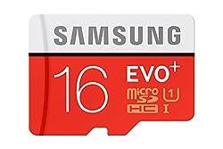 Samsung EVO Plus 16GB microSD Card (Red/Grey)