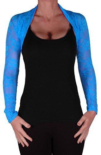 EyeCatchClothing - Mystique Fitted Evening Bolero Lace Shrug One Size
