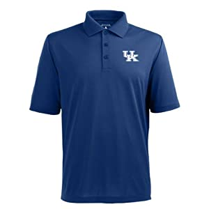 Kentucky Wildcats Antigua Mens Blue Pique Xtra-Lite Polo Shirt by Antigua