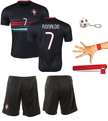 iSport Gifts® Portugal Home / Away Ronaldo #7 Kids Soccer Jersey and Soccer Shorts 4 IN 1 SOCCER FAN GIFT KIT Youth Sizes YS / YM / YL (Youth Medium 8-10 Years Old, Ronaldo #7 Away) (Cristiano Ronaldo Number And Name compare prices)