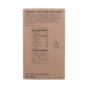 MRE Entree Spaghetti with Meat Sauce by Varies
