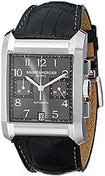 Baume Mercier Men's 10030 Hampton Mens Black Leather Strap Chronograph Watch
