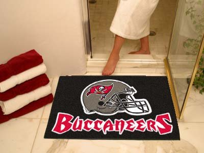 NFL Tampa Bay Buccaneers Chromo Jet Printed Rectangular Area Rug Floor Mat 45