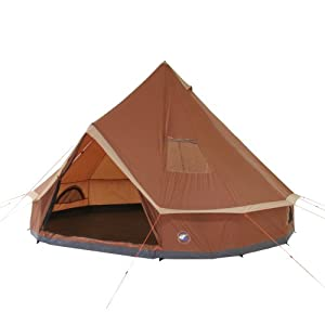 10T Mojave 400 - 8-person pyramid round tent with sewn in ground sheet, WS=5000 mm