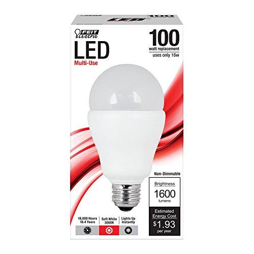 Feit A1600/830/Led A19 General Purpose 100-Watt Led Light, Soft White