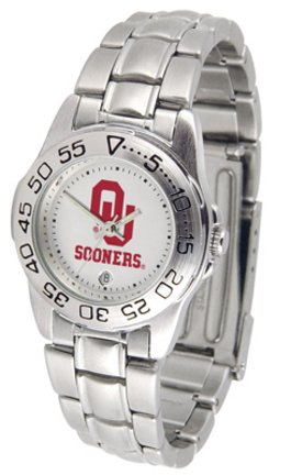 NCAA Oklahoma Sooners Ladies Gameday Sport Watch with Stainless Steel Band ncaa 10