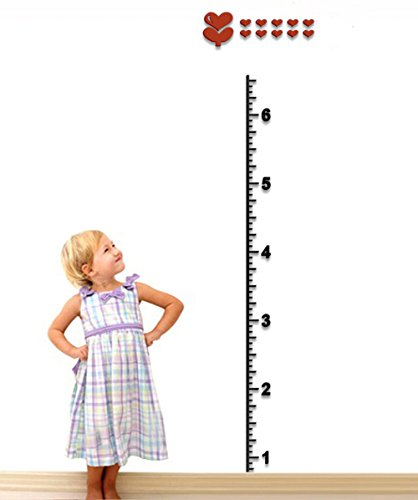 DecorSmart Plastic Growth Chart Ruler Wall Stickers, Large Plastic Ruler to Measure Children Growing (Location Chart compare prices)