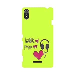 Skintice Designer Back Cover with direct 3D sublimation printing for Sony Xperia T3