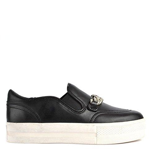 Ash Scarpe Joe Sneaker di Cuoio, Donna 41 EU Nero