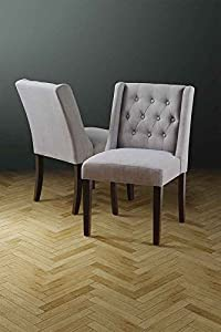 Wing Grey High Quality Upholstered Dining Chair Huxley