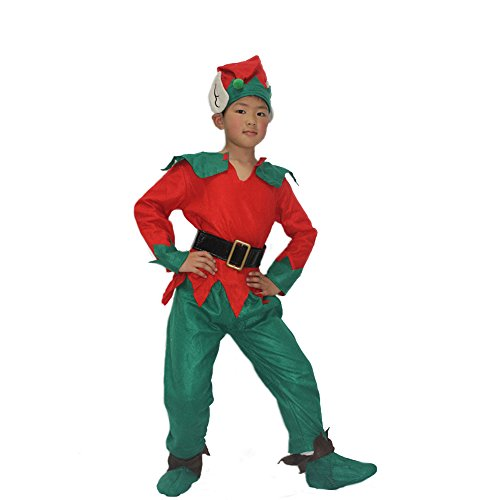Xmas Christmas Santa Claus Costume Elf Outfit for Toddler Boys Kids Baby Children