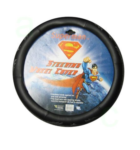 Comfort Grip Steering Wheel Cover - Superman With Lightning Bolt In Silver front-567622