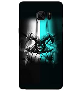 PrintVisa Modern Art Scary Face 3D Hard Polycarbonate Designer Back Case Cover for SAMSUNG GALAXY NOTE 7