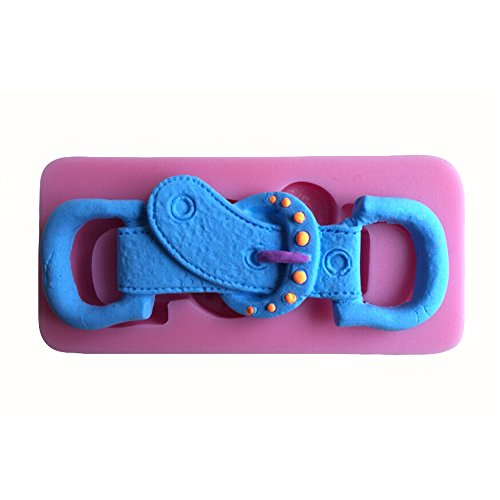 Karen Baking Fashion Belt Buckle Shape 3D Silicone Cake Mold For Cake Fondant Decorating (Baking Tool Belt compare prices)