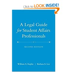 Image: Cover of A Legal Guide for Student Affairs Professionals