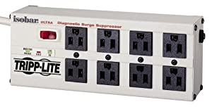 Tripp Lite ISOBAR8ULTRA Isobar Surge Protector Metal 8 Outlet 12 feet Cord 3840 Joules