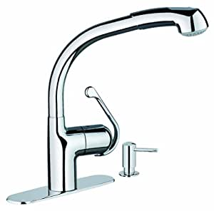 grohe 30125000 zedra dual pull down spray chrome faucet