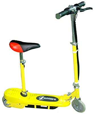 Kids Electric Scooter E Scooter E-scooter Yellow 120W Motor 24V Rechargeable Battery Powered