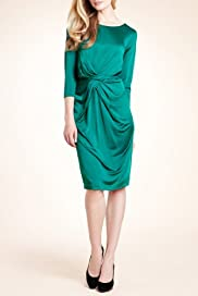 Autograph Twisted Front Slinky Dress [T50-2383-S]