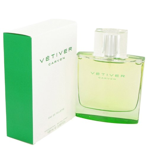 Vetiver Carven FOR MEN by Carven - 3.4 oz EDT Spray (New Packaging) by Carven