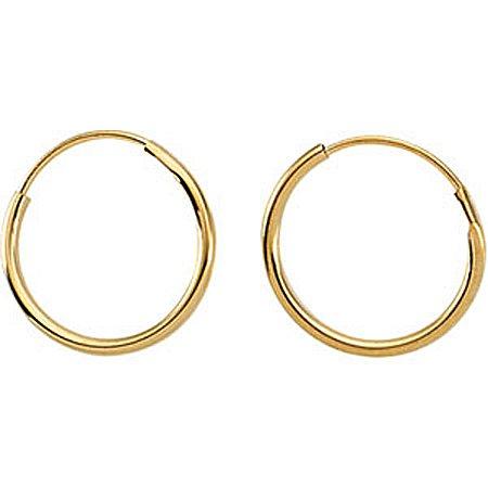 Childrens Hoop Earrings In 14K Yellow Gold