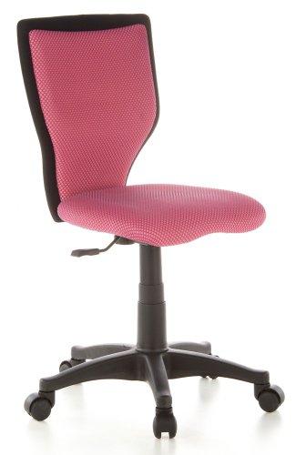 hjh-OFFICE-670000-Kinderschreibtischstuhl-KIDDY-LUX-Netzstoff-pink