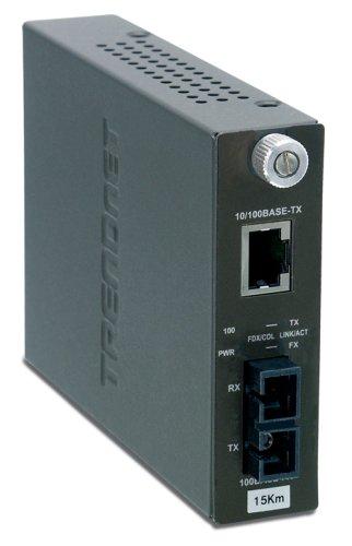 Buy TRENDnet 100Base-TX to 100Base-FX Single Mode SC Fiber Converter 15 Km 9 3 Miles TFC-110S15 BlackB0000AZK4L Filter