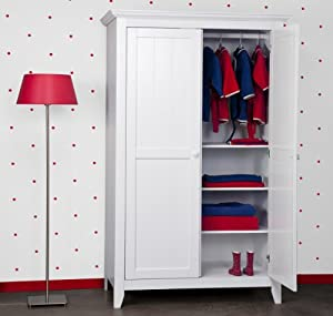 child kinder kleiderschrank country snow white 2 trg baby. Black Bedroom Furniture Sets. Home Design Ideas