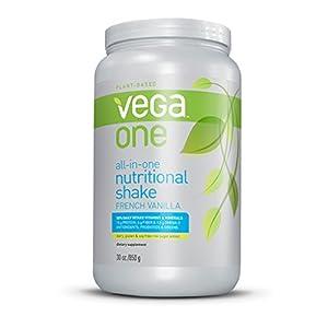 Vega One All-in-One Nutritional Shake, French Vanilla, Large Tub, 30oz