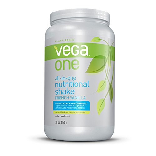Vega One All-In-One Nutritional Shake, French Vanilla, Large Tub, 30Oz front-42199