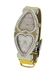 Jacob & Co. Ladies Swiss Yellow Heart to Heart Two Time Zone Diamond Watch 1.48CT
