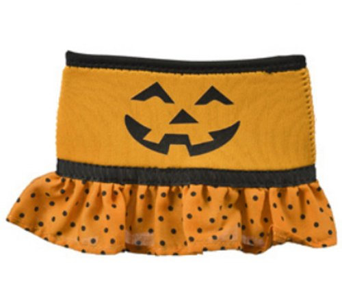 Orange Pumpkin Wine Glass Skirt