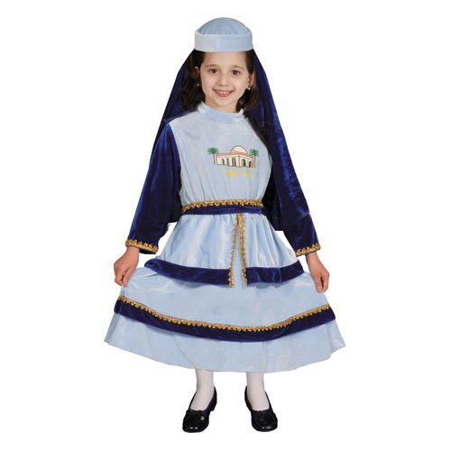 [Jewish Mother Rachel Costume Set - Large 12-14 by Dress Up America] (Jewish Mother Rachel Costume)