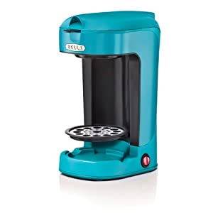 Bella One Cup Coffee Maker Turquoise : Amazon.com: BELLA 13782 One Scoop One Cup Coffee Maker, Turquoise: Single Serve Brewing Machines ...