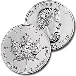 2010 Canadian (1 oz) Silver Maple Leaf