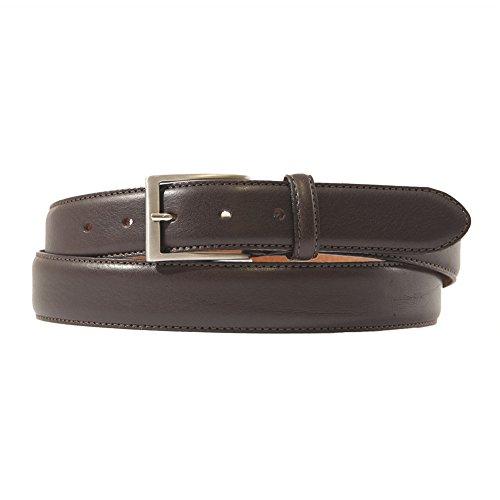 Cintura Leonardo Marrone, in pelle, classica, dimensioni in cm:115 L x 3,5 h