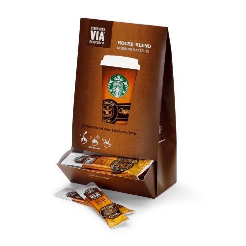 Starbucks VIA Ready Brew House Blend Coffee by Starbucks (50 count) 0.11oz/3.3g packets (5.8oz/165g) (House Blend Via compare prices)