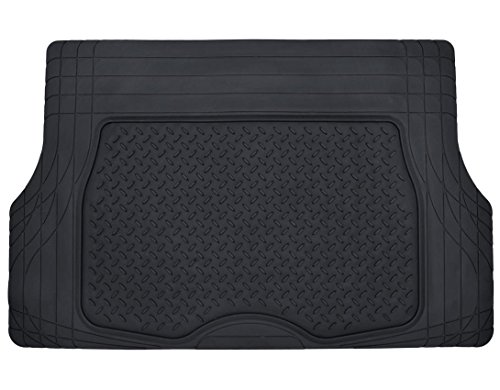 Motor Trend® Heavy Duty Rubber Cargo Mat Trunk Liner for Car SUV Auto (Black) - Odorless All Weather (2012 Toyota Corolla Trunk Liner compare prices)