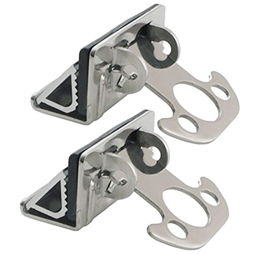 Stainless Steel Truck Clamps Tie Down Anchor Bed Lip Mount (2 Anchors) (Toyota Tundra Camper Shell compare prices)